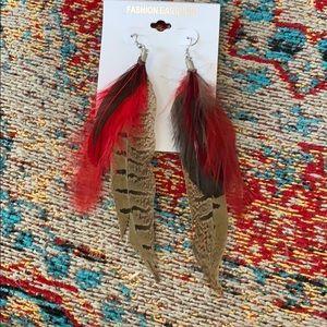 """Jewelry - Feather Earrings 6"""""""